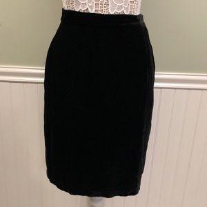 Vintage 80's Calvin Klein Silk Velvet Skirt